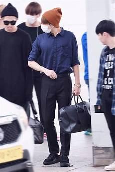 jungkook airport fashion 20160902 k pop amino