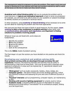 Analytical And Problem Solving Skills Problem Solving And Analytical Skills