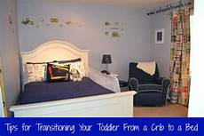 transitioning todder to size bed from crib