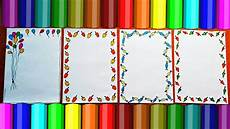 Good Front Page Design Border Designs On Paper Project Design Ideas How To