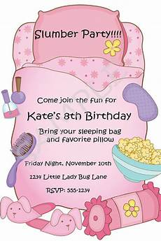 Free Printable Slumber Party Invitations Free Printable Slumber Party Birthday Invitations Party