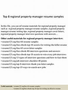 Regional Property Manager Resumes Top 8 Regional Property Manager Resume Samples