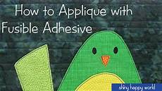 how to applique how to applique with fusible adhesive one block from