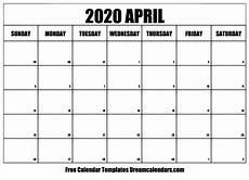 print calendar april 2020 printable april 2020 calendar