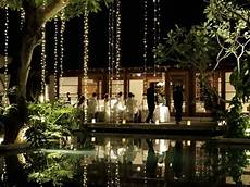 Dangling Fairy Lights Dangling Fairy Lights Above The Shallow Pool Provide A