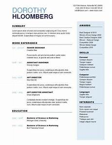 How 2 Make A Resumes 2 Column Microsoft Word Resume Template Resume Template