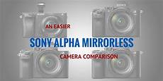 Sony Camera Comparison Chart An Easier Sony Alpha Mirrorless Camera Comparison