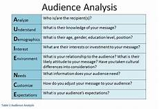 Audience Analysis Example Audience Analysis Primary Secondary And Hidden