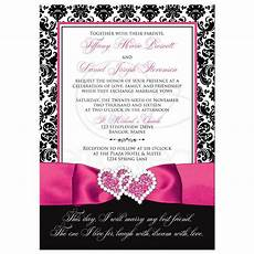 Pink Invitations Wedding Invitation Photo Optional Black And White