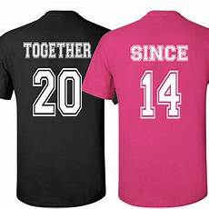 Couple T Shirt Love Design Couple T Shirts Together Since Love Shirt S Day