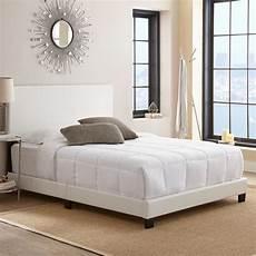 rest rite barrett white upholstered platform bed