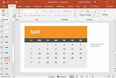 Calendar Slides How To Quickly Insert A Calendar In Powerpoint With