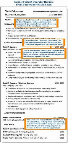 Resume For Forklift Operator Forklift Operator Resume