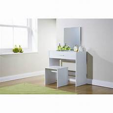 white dressing table desk w stool mirror dresser