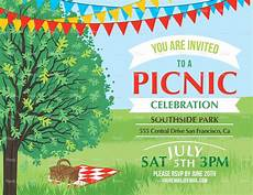 Family Picnic Invitation Summer Picnic And Bbq Invitation Flyer Or Template Text