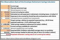 Pension Calculations Spreadsheet Observations My Simple Retirement Saving Calculator