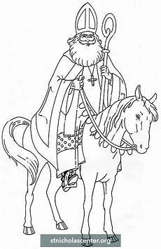 Ausmalbilder Bischof Nikolaus St Nicholas Center Clip