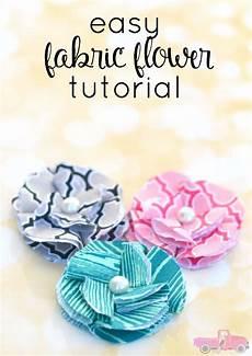 craft easy fabric flower tutorial bradford
