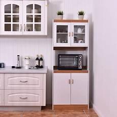 gymax microwave cart stand kitchen storage cabinet