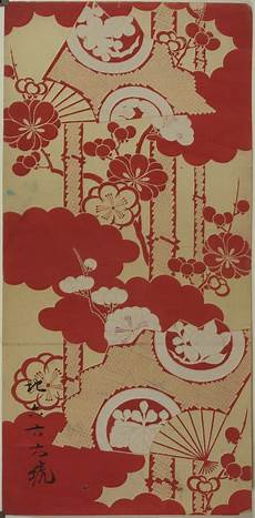 Arts And Designs Of Japan Japanese Textile Design Poster Museum