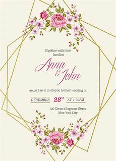 Download And Print Wedding Invitations Free Free Wedding Invitation Card Template Amp Mockup Psd