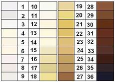 Skin Color Scale Chart Felix Von Luschan S Chromatic Scale Google Search