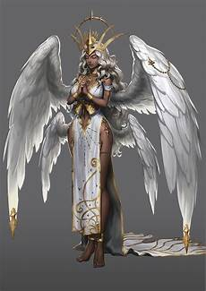 Female Angel Designs Artstation Angel Concept Art Sojin Kang Chocolazy