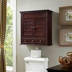 lilliana espresso brown medicine storage bathroom wall