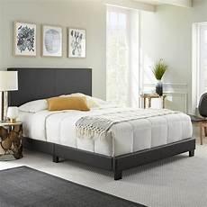 rest rite barrett black upholstered platform bed