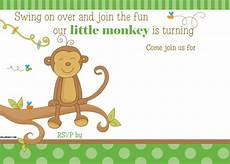 Monkey Birthday Invitations Free Printable Little Monkey Birthday Invitation Template