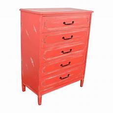 50 distressed five drawer dresser storage