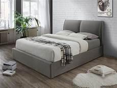 lade da da letto moderne letto contenitore alceo tessuto grigio o antracite 160x200