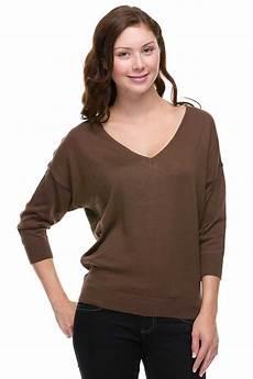 knit tops for 3 4 sleeve 3 4 dolman sleeve knit v neck top