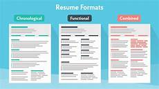 Most Recent Resume Format Resume Formats Guide How To Pick The Best In 2018