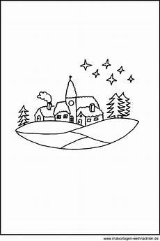 Malvorlagen Winter Weihnachten Pdf Ausmalbild Winterlandschaft Gratis Window Color Bild