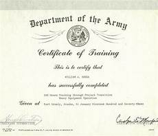 Army Certificates Of Training Bill In The Army Bill Sheka Jr Outdoors
