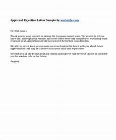 Rejection Letter Template 9 Job Rejection Letters Free Sample Example Format