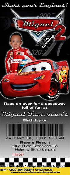 Cars Birthday Invitation Templates F1 Digital Scrapaholic Pixar Cars Theme Invitation