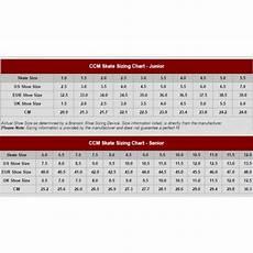 Junior Skates Size Chart Ccm Ribcor 44k White Junior Ice Hockey Skates