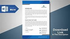 How To Design Letterhead In Word Create A Modern Professional Letterhead Free Template