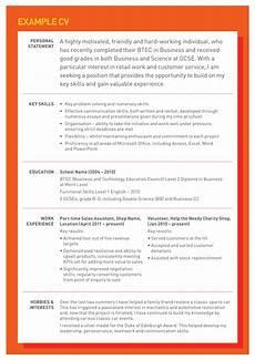 Ready Cv Examples Cv Tips Youth Employment Uk