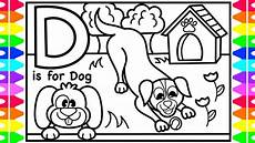 abc alphabet coloring pages for d is for