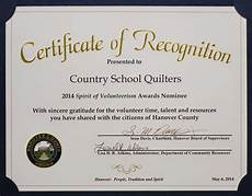 Text For Certificate Of Recognition Country School Quilters Certificate Of Recognition