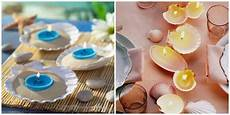 candele con conchiglie decorare con le conchiglie feste e compleanni