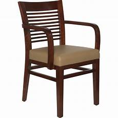 wood decorative ladder back arm chair upholstered seat