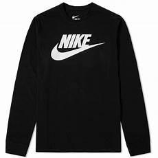 nike sleeve shirts nike sleeve futura icon black white