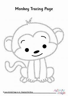 Animal Patterns To Trace Monkey Tracing Page