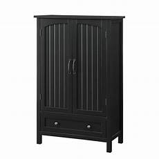 usl farmhouse black storage pantry with drawer sk19295a1
