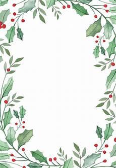 Free Christmas Borders Leaf Amp Holly Border Free Christmas Invitation Template
