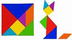 Tangram Kinder Malvorlagen Easy Learning Animals With Tangram Puzzle For Easy